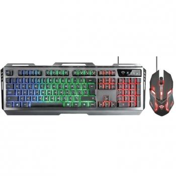 Klávesnice s myší Trust GXT 845 Tural Gaming Combo, US černá