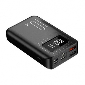 Powerbank Viking 10000mAh, USB-C černá
