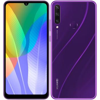Mobilní telefon Huawei Y6p (HMS) fialový
