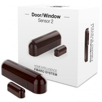 Senzor Fibaro na dveře/okna 2, Z-Wave Plus hnědý
