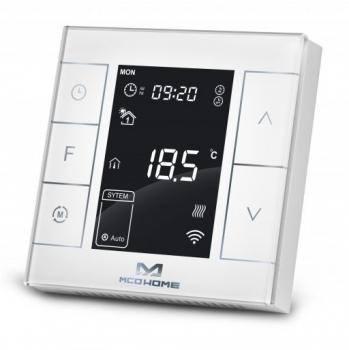 Termostat MCO Home MH7 V2 pro elektrické topení, Z-Wave Plus bílý