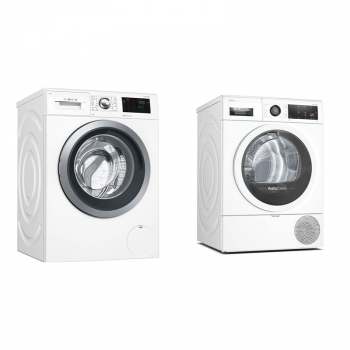Set (Sušička prádla Bosch Serie | 8 WTX87MW0CS) + (Pračka Bosch Serie | 6 WAT286H1BY)
