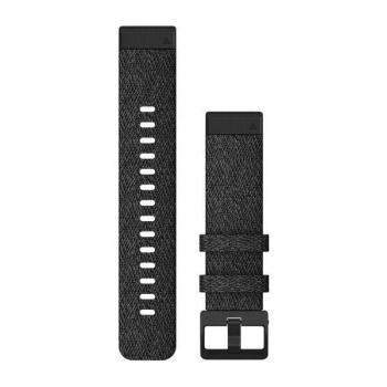 Řemínek Garmin QuickFit 20mm pro Fenix5S/6S, nylonový, černý, černá přezka