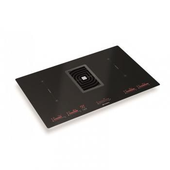 Indukční varná deska s odsáváním Faber GALILEO GLASS BK černá