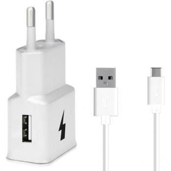 Nabíječka do sítě WG 1xUSB, QC 3.0 + USB-C kabel bílá