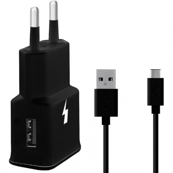Nabíječka do sítě WG 1xUSB, QC 3.0 + USB-C kabel černá