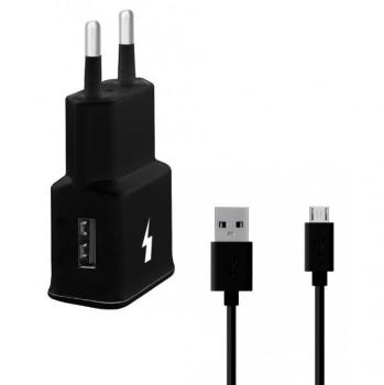 Nabíječka do sítě WG 1xUSB, QC 3.0 + Micro USB kabel černá