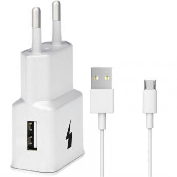 Nabíječka do sítě WG 1xUSB, QC 3.0 + Micro USB kabel bílá