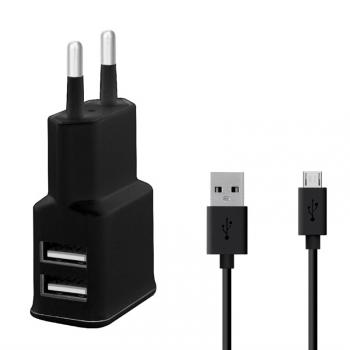 Nabíječka do sítě WG 2xUSB,2,4A + Micro USB kabel černá