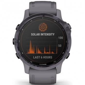 GPS hodinky Garmin fenix6S PRO Solar - Amethyst/Shale Band (MAP/Music)