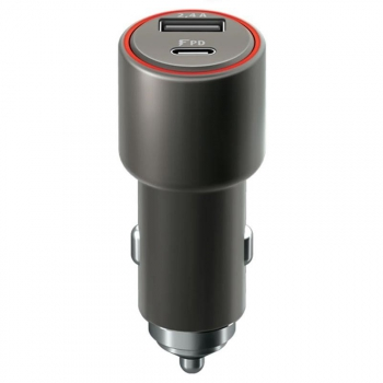 Adaptér do auta Forever Core, 1x USB, 1x USB-C PD 30W černý