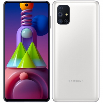 Mobilní telefon Samsung Galaxy M51 bílý