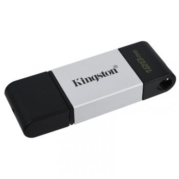 USB Flash Kingston DataTraveler 80 128GB, USB-C černý/stříbrný