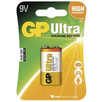 Baterie alkalická GP Ultra 9V, blistr 1 ks