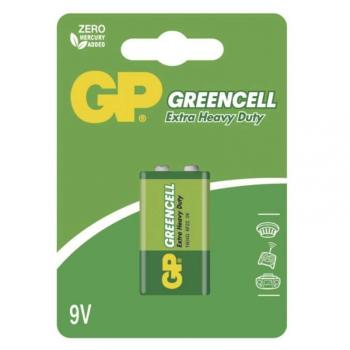 Baterie zinkochloridová GP Greencell 9V, blistr 1ks