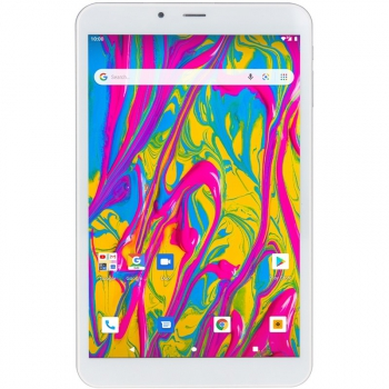 Dotykový tablet Umax VisionBook T8 3G stříbrný/bílý