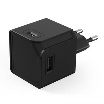 Nabíječka do sítě Powercube Original 2x USB, 2x USB-C černá
