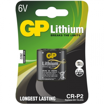 Baterie lithiová GP CR-P2, blistr 1ks