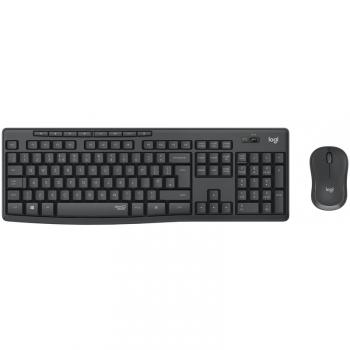 Klávesnice s myší Logitech MK295 Silent Wireless Combo CZ/SK - grafitová