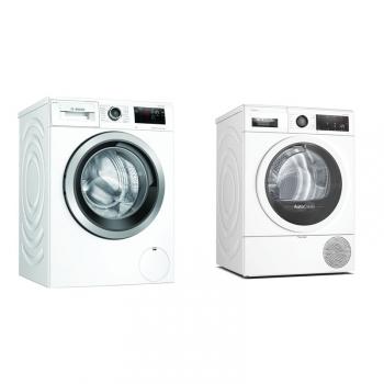 Set (Sušička prádla Bosch Serie   8 WTX87MW0CS) + (Pračka Bosch Serie   6 WAU28PH1BY)