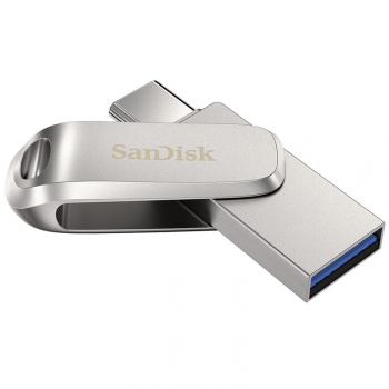 USB Flash SanDisk Ultra Dual Luxe 256GB USB/USB-C stříbrný