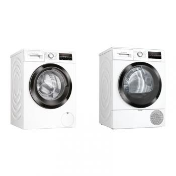 Set (Sušička prádla Bosch Serie   6 WTR87TW2CS) + (Pračka Bosch Serie   6 WAU28T60CS)