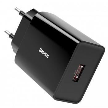 Nabíječka do sítě Baseus 1x USB, 18W černá