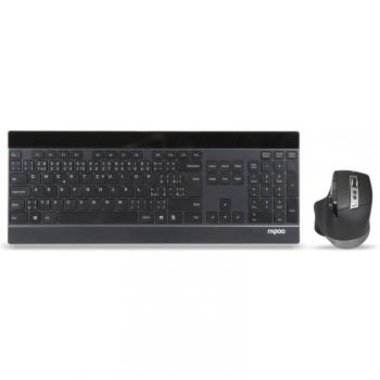 Klávesnice s myší Rapoo 9900M, CZ/SK layout černá