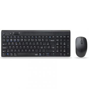 Klávesnice s myší Rapoo 8050T, CZ/SK layout černá