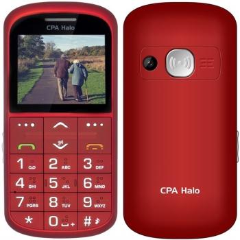 Mobilní telefon CPA Halo Halo 11 Pro Senior s nabíjecím stojánkem červený + dárek