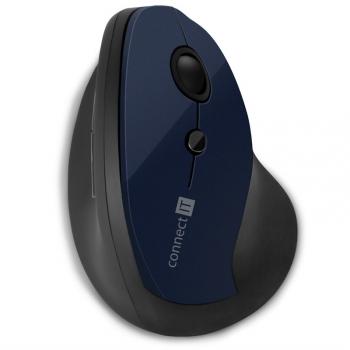 Myš Connect IT vertikální, ergonomická modrá