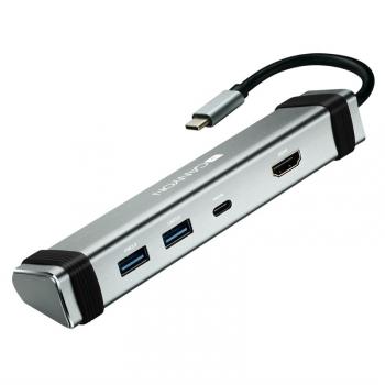 Dokovací stanice Canyon DS-3 USB-C/HDMI, 2x USB 3.0, USB-C PD 60W stříbrná
