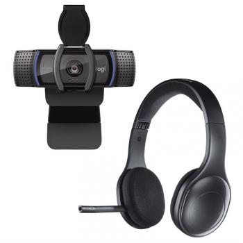 Set (Webkamera Logitech HD C920S Pro) + (Headset Logitech Wireless H800)