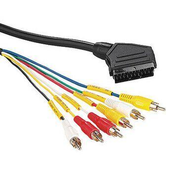 Kabel Hama SCART / 6x Cinch, 2m černý