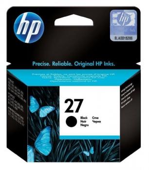 Inkoustová náplň HP Deskjet No. 27, 10ml - originální černá