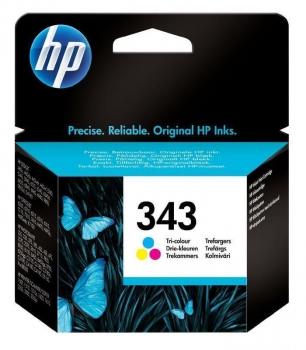 Inkoustová náplň HP Photosmart No. 343, 7ml, 260 stran - originální červená/modrá/žlutá