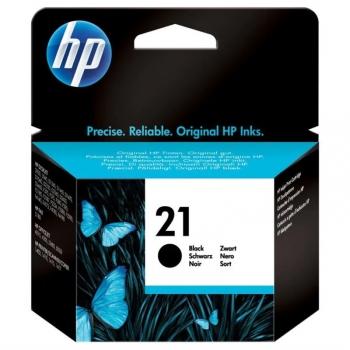 Inkoustová náplň HP No. 21, 150 stran - originální černá