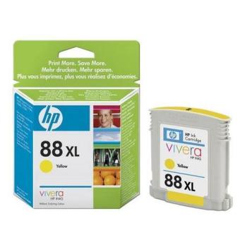 Inkoustová náplň HP No. 88XL, 17,1ml, 1200 stran - originální žlutá