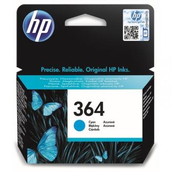 Inkoustová náplň HP No. 364, 300 stran - originální modrá