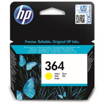 Inkoustová náplň HP No. 364, 300 stran - originální žlutá