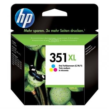 Inkoustová náplň HP Officejet No. 351XL, 14 ml - originální červená/modrá/žlutá