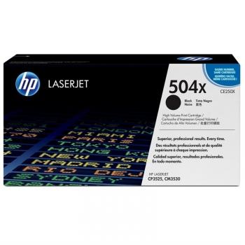 Toner HP 504X, 10500 stran černý