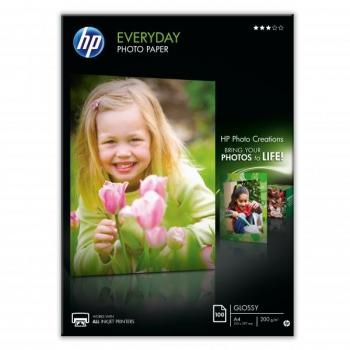 Fotopapír HP Everyday Glossy, lesklý, bílý, A4, 200 g/m2, 100 ks bílý