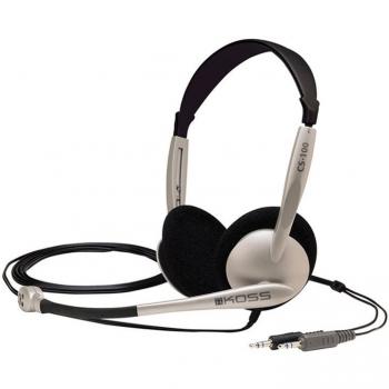 Headset Koss CS 100 černý/stříbrný