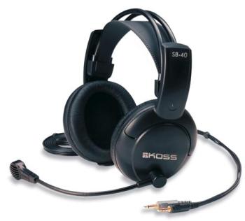 Headset Koss SB 40 černý