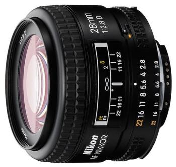 Objektiv Nikon NIKKOR 28MM F2.8 AF D A černý