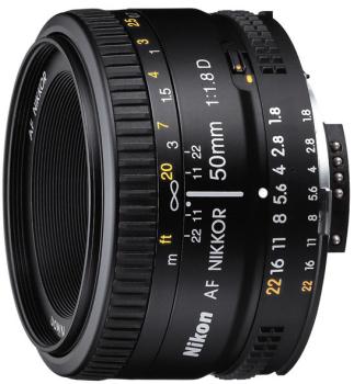 Objektiv Nikon NIKKOR 50 mm f/1.8 AF D černý