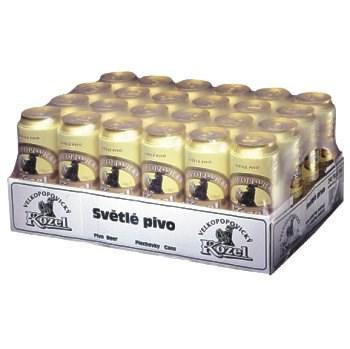 Karton piva Velkopopovický kozel 24 ks x 0,5 l