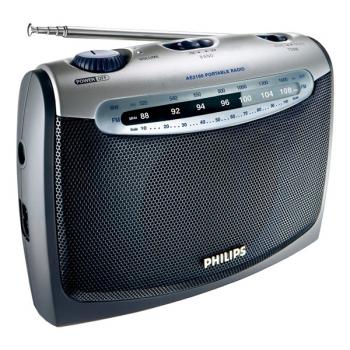 Radiopřijímač Philips Portable radio AE 2160 stříbrný