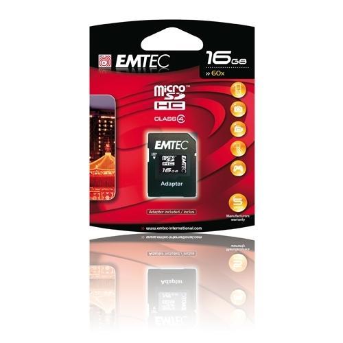 Pametova Karta Emtec Micro Sd 16gb 60x Adapter Cerna Euronics